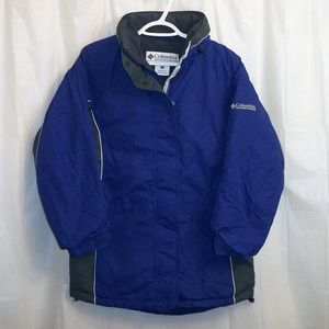 Columbia Insulated Coat Jacket Women's Small Blue